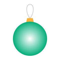 Gradient green Christmas ball. Vector.