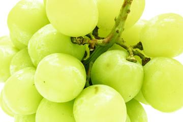 white grape fresh fruit in closeup shot