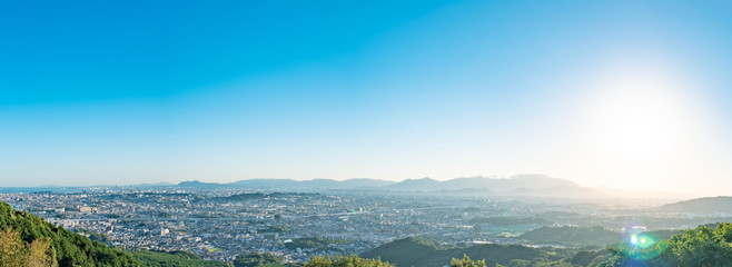Wall Mural - 都市風景 福岡市 油山展望台からの眺望