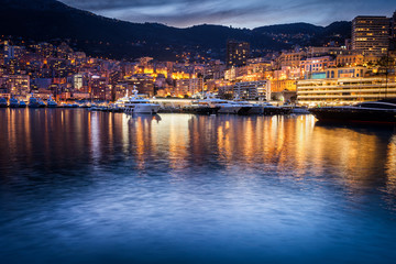 Monaco Evening Skyline Wall mural