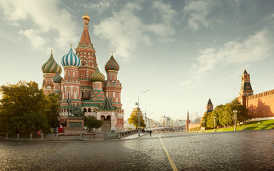 Tuinposter Aziatische Plekken Saint Basil's Cathedral on Red Square in Moscow, Russia