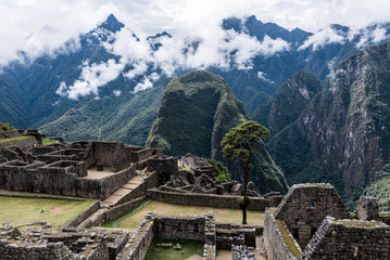 Travel destination Machu Picchu Inca ruins in Peru South America