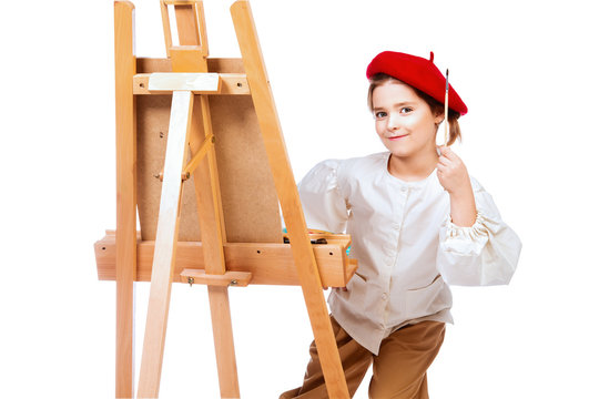 positive painting girl