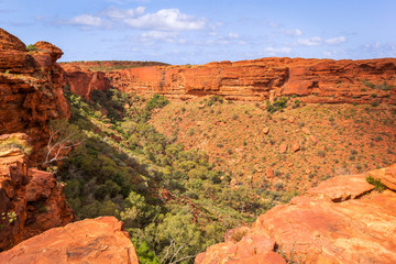 Panoramic view of Kings Canyon,  Central Australia, Northern Territory, Australia