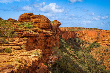 Panoramic view with rock formations of Kings Canyon, Northern Territory, Australia