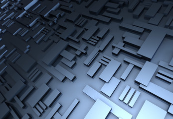 3d abstract architecture background. 3d illustration