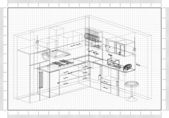 Kitchen Design blueprint