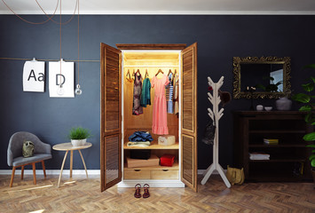 home open closet