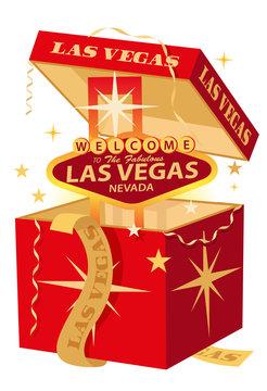 Las Vegas Christmas gift box