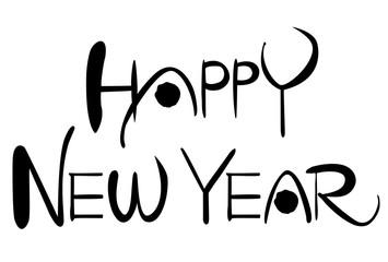 HAPPY NEW YEAR 書文字