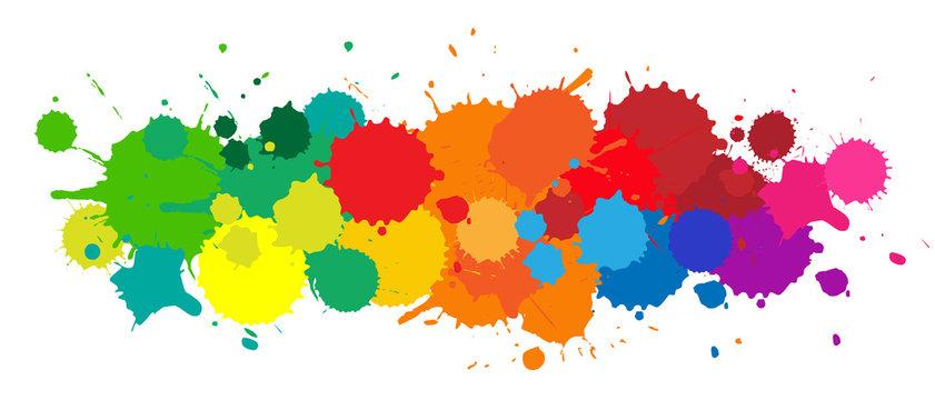 Taches colorées