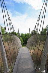 Lübben, Spreewald, suspension bridge, Germany