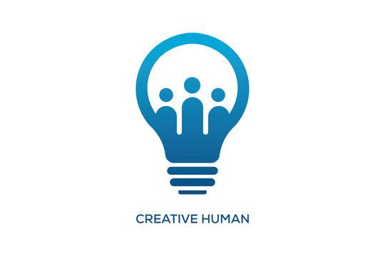 CREATIVE HUMAN LOGO DESIGN