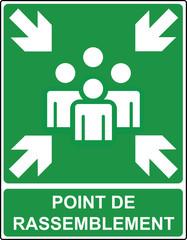 Panneau point de rassemblement