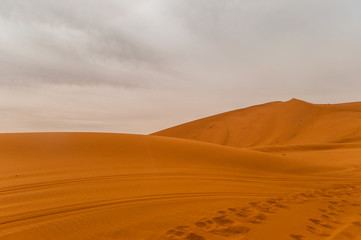 Dunes of Erg Chebbi near Merzouga in Morroco