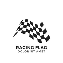 Racing flag graphic design template vector illustration