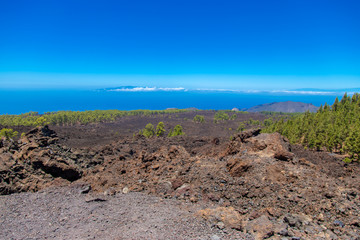 La Gomera island view from Tenerife island