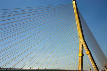 Rama 8 Bridge in Bangkok Thailand