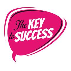the key to success retro speech balloon