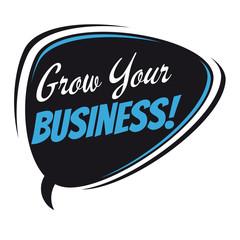 grow your business retro speech bubble