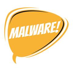 malware retro cartoon balloon