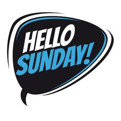 hello sunday retro speech balloon