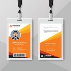 Stylish orange ID card design template