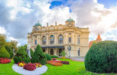 Obraz Teatr Juliusza Słowackego w Krakowie - fototapety do salonu