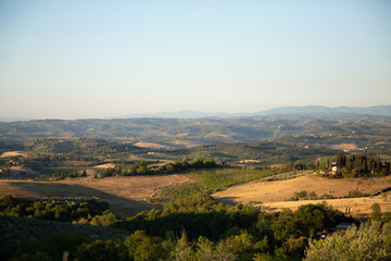 beautiful scenery in Tuscany land, italian lights country lifestyle