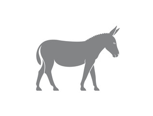 Donkey logo. Isolated donkey on white background