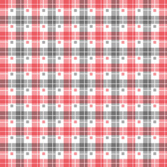 Gray and red seamless geometric pattern background