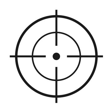 Crosshair flat vector icon. Modern illustration of crosshair symbol for web design