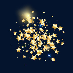 Star falling confetti background.
