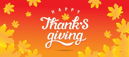 Thanksgiving day poster or greeting card design