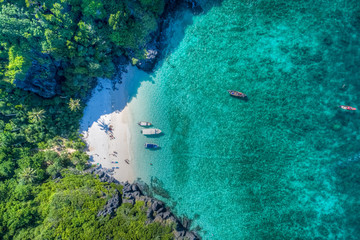 Aerial view of beach in Thailand