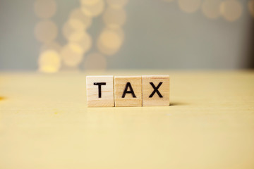 Tax, Business Words Quotes Concept