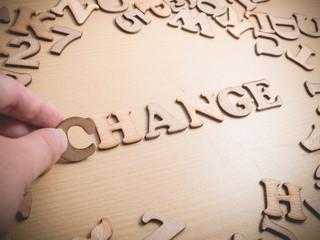 Change. Words Typography Concept