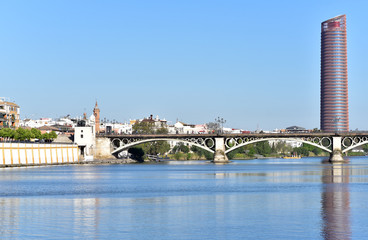 Panoramic view of the city of Seville, 