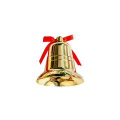 Jingle bell. Christmas Decoration  isolated on white background close up