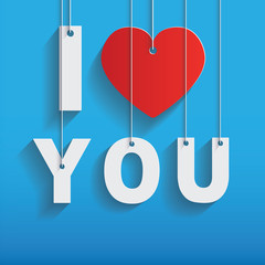 I love you, valentine card - Stock Image