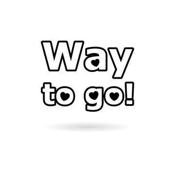 Black Way to go icon or logo