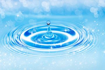 gota de agua en el aire