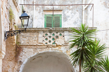 Presicce, Apulia - Time and weather found their way to work at this balcony