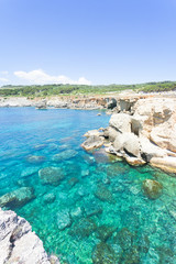 Torre die Miggiano, Apulia - Turquoise water at the harbor of Torre Miggiano
