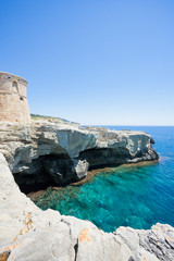 Torre die Miggiano, Apulia - High cliffs at the defense tower of Miggiano