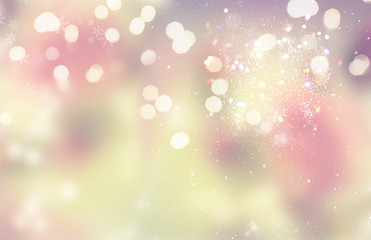 chrismas festive pink and golden and silver glowing background sparkles and lights