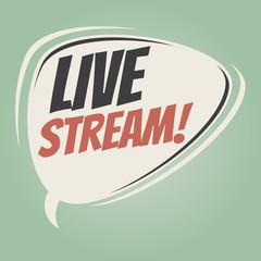 live stream retro speech balloon