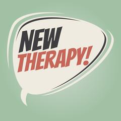 new therapy retro speech balloon
