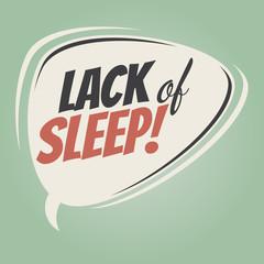 lack of sleep retro speech balloon