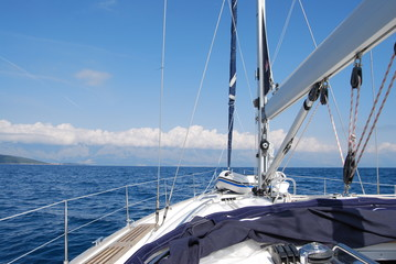 Łódka, morze ,Fregaty